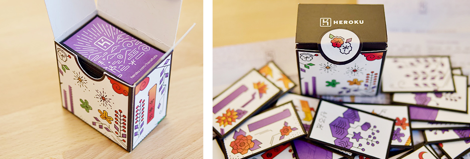 Images of the hanafuda deck packaging