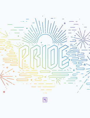 Heroku Pride Fireworks Light wallpaper